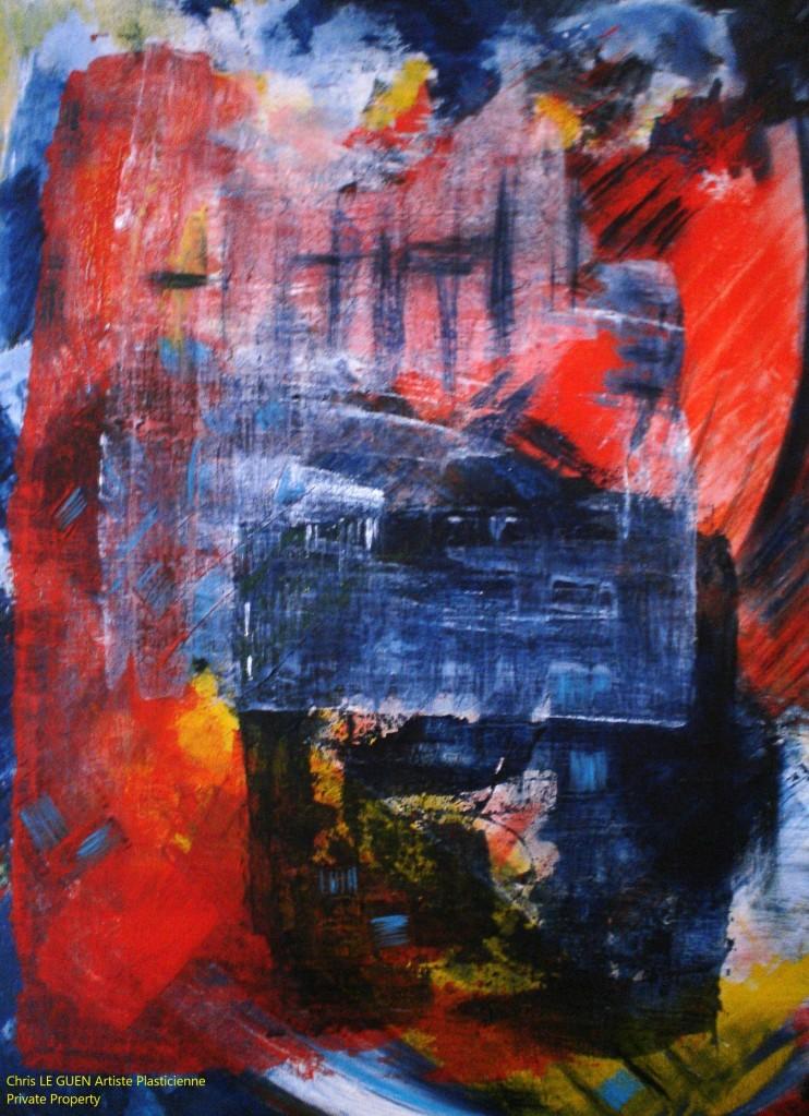 Chris Le Guen Artiste Plasticienne Peintre et Sculptrice peint N°29