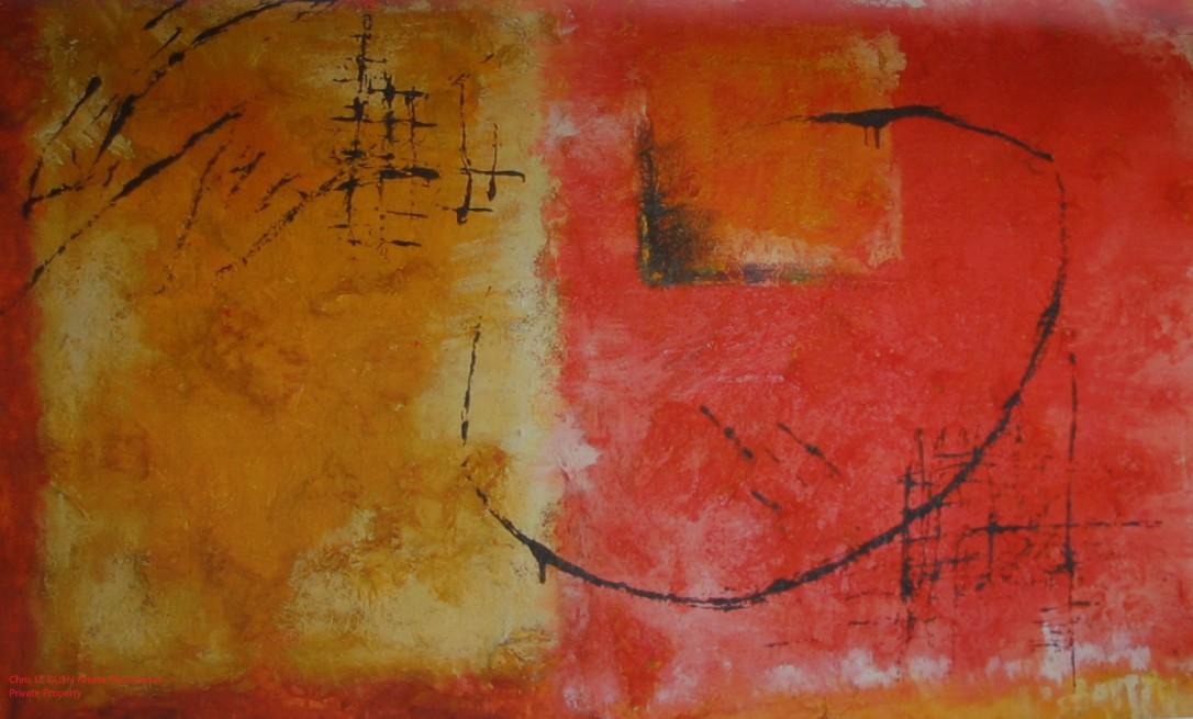 Chris Le Guen Artiste Plasticienne Peintre et Sculptrice peint N°3
