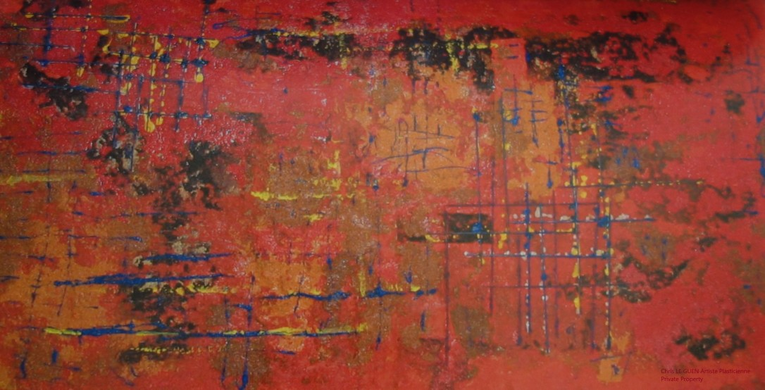 Chris Le Guen Artiste Plasticienne Peintre et Sculptrice peint N°30