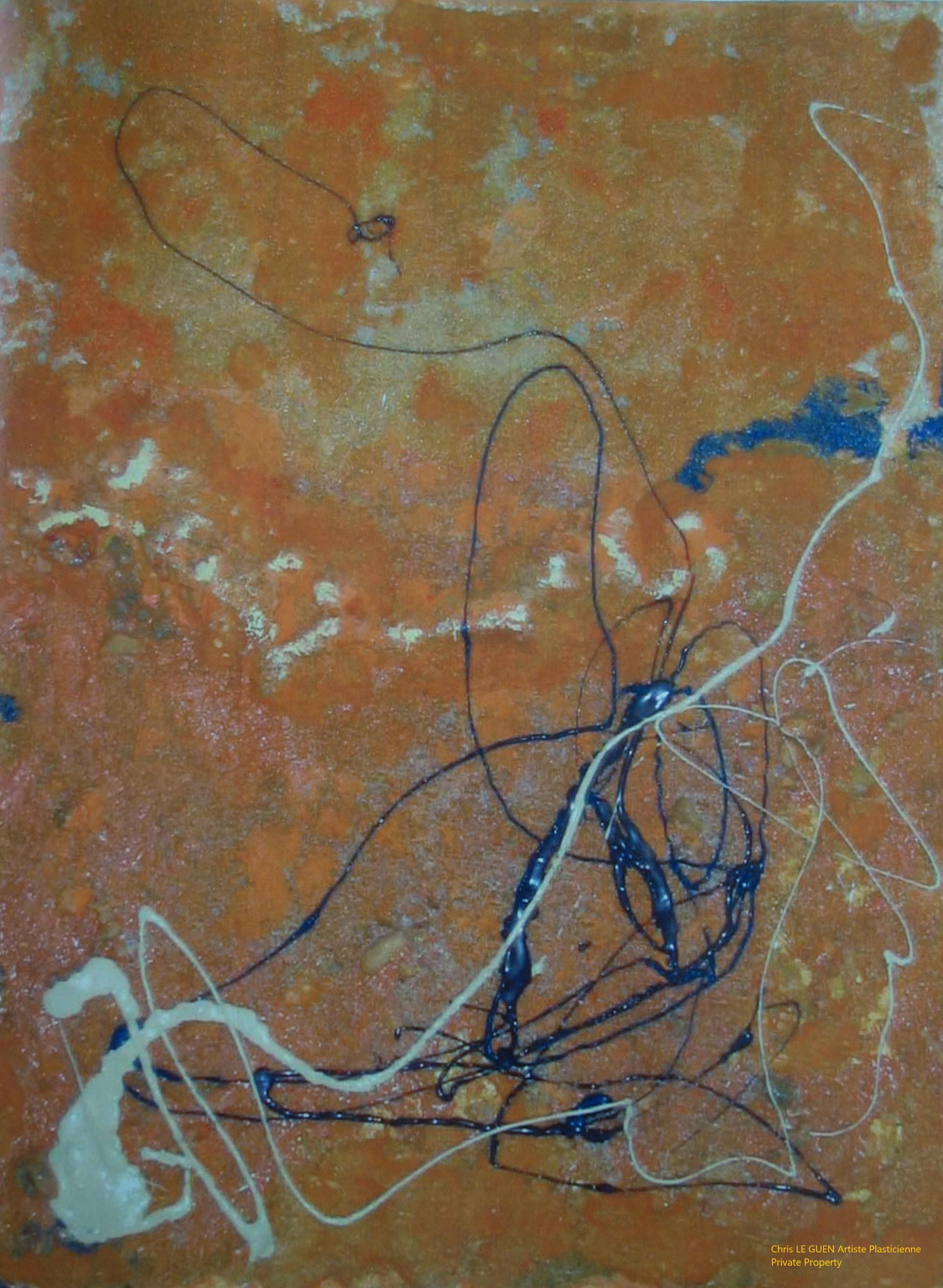 Chris Le Guen Artiste Plasticienne Peintre et Sculptrice peint N°31