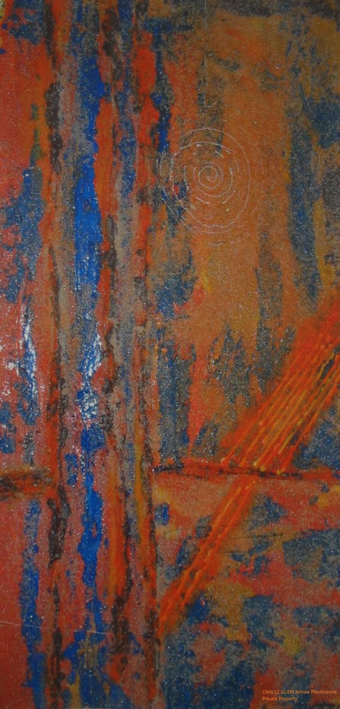 Chris Le Guen Artiste Plasticienne Peintre et Sculptrice peint N°33-1