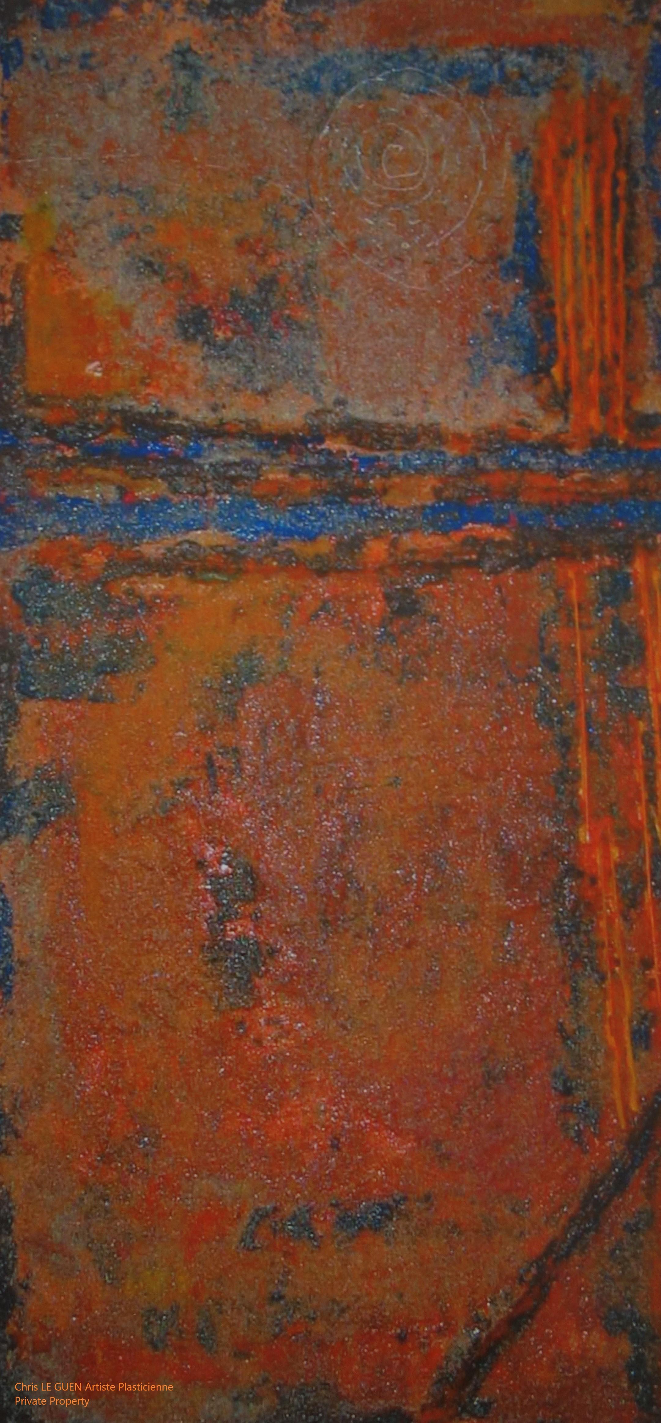Chris Le Guen Artiste Plasticienne Peintre et Sculptrice peint N°33-3