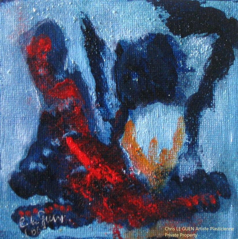 Chris Le Guen Artiste Plasticienne Peintre et Sculptrice peint N°33