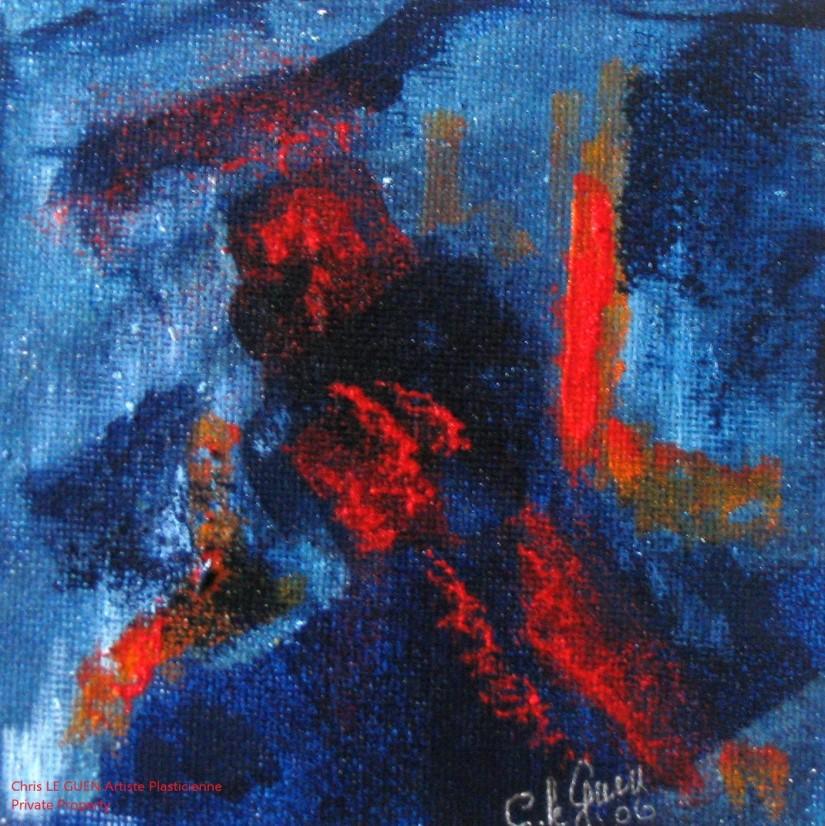 Chris Le Guen Artiste Plasticienne Peintre et Sculptrice peint N°33 bis