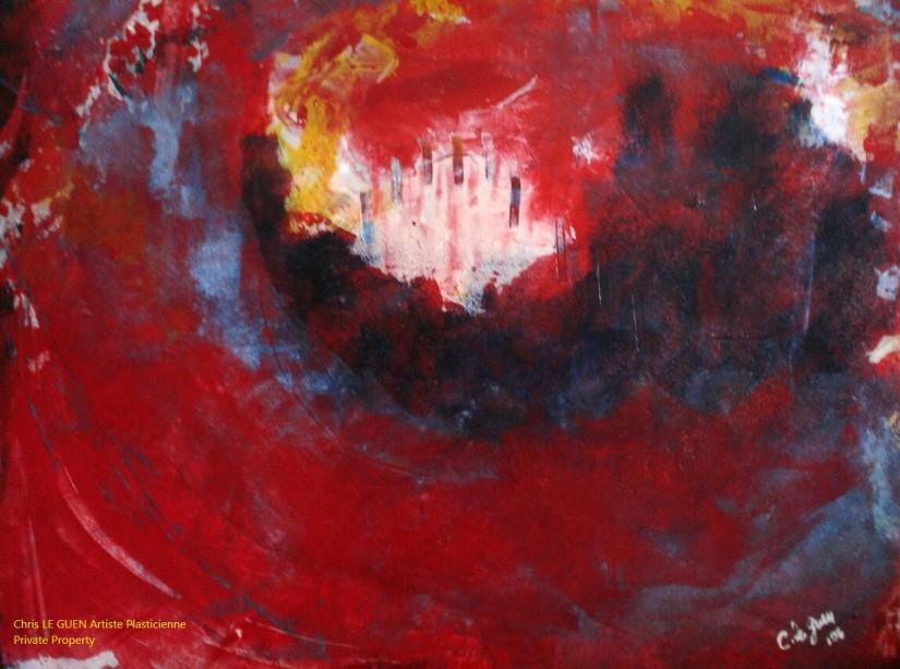 Chris Le Guen Artiste Plasticienne Peintre et Sculptrice a peint N°34
