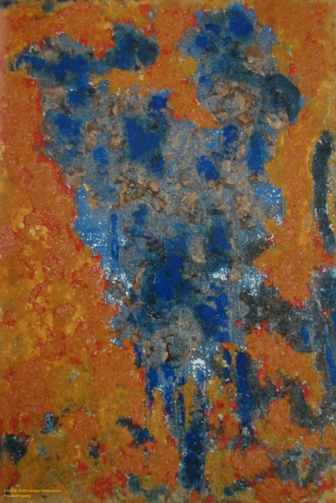 Chris Le Guen Artiste Plasticienne Peintre et Sculptrice peint N°34