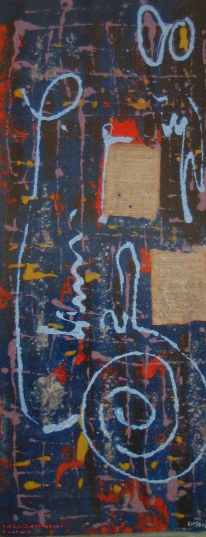 Chris Le Guen Artiste Plasticienne Peintre et Sculptrice peint N°35