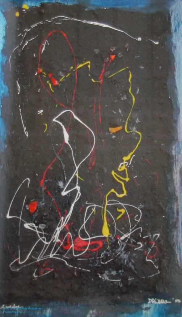 Chris Le Guen Artiste Plasticienne Peintre et Sculptrice peint N°37