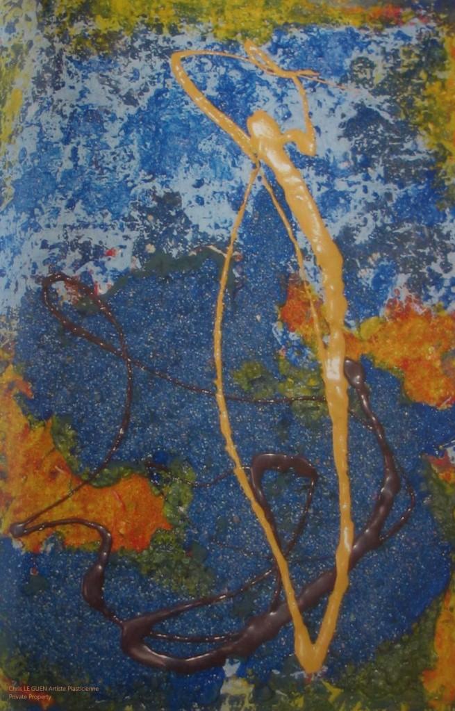 Chris Le Guen Artiste Plasticienne Peintre et Sculptrice peint N°38