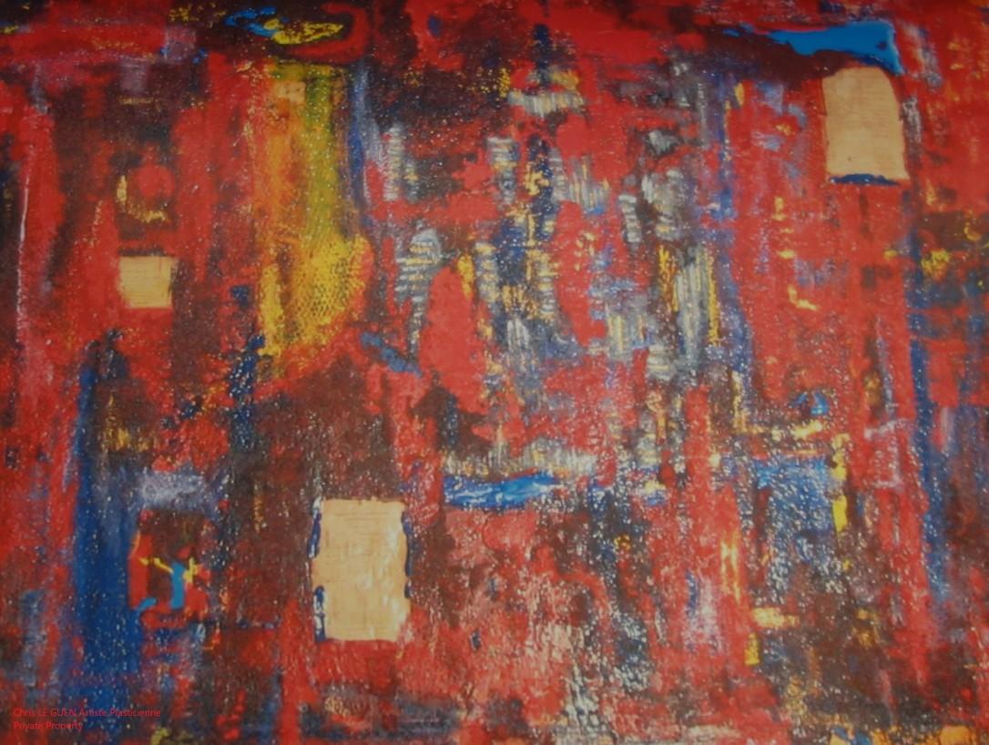 Chris Le Guen Artiste Plasticienne Peintre et Sculptrice peint N°39