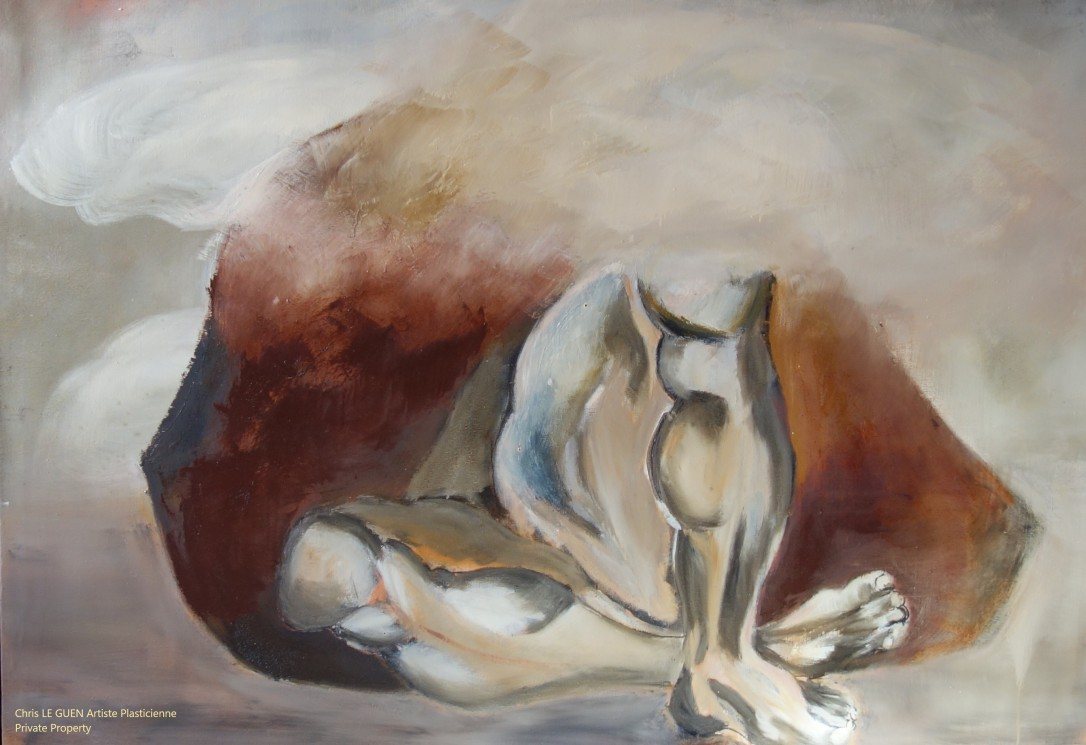 N°4 peint par Chris Le Guen Artiste Plasticienne Peintre et Sculptrice