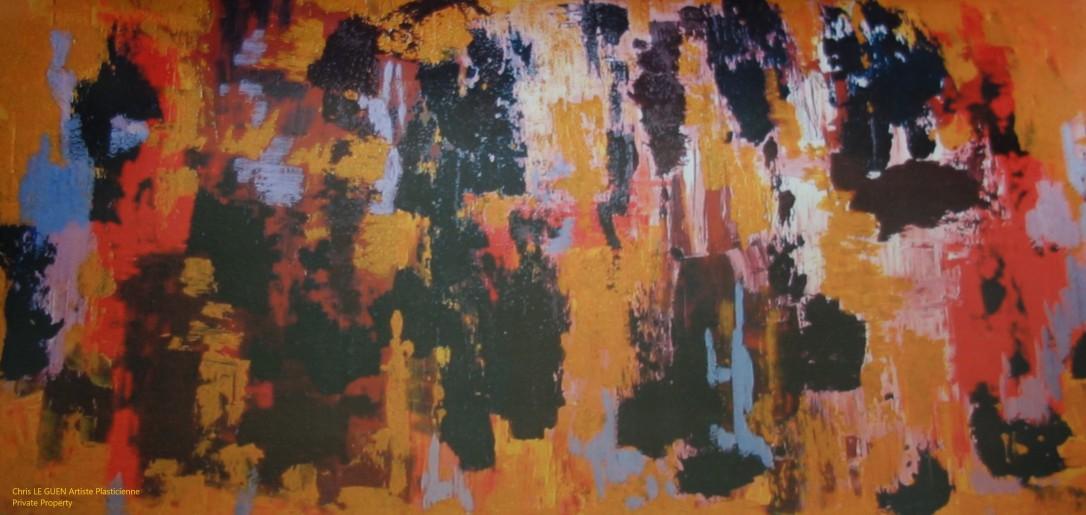 Chris Le Guen Artiste Plasticienne Peintre et Sculptrice peint N°40 bis