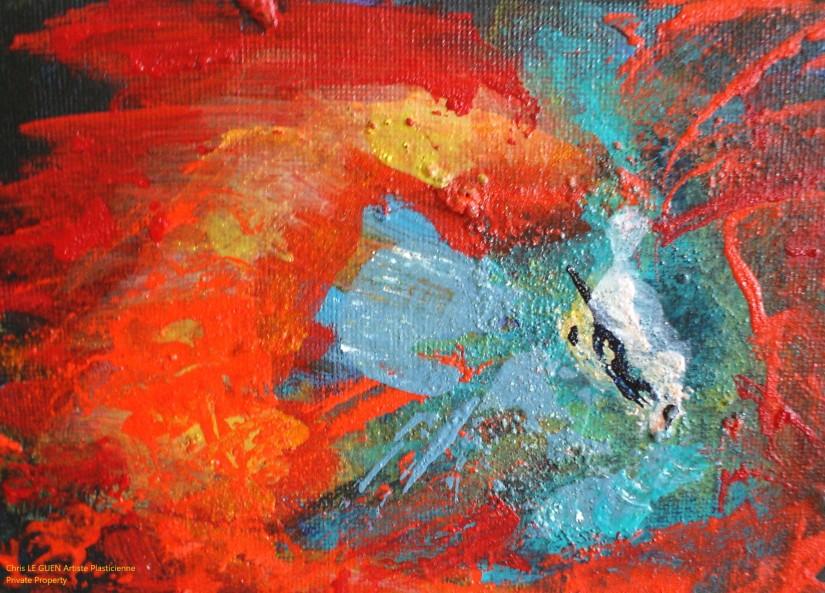 Chris Le Guen Artiste Plasticienne Peintre et Sculptrice peint N°42