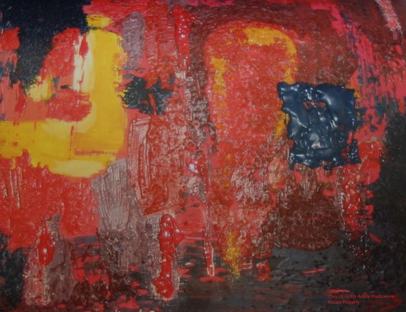 Chris Le Guen Artiste Plasticienne Peintre et Sculptrice peint N°43
