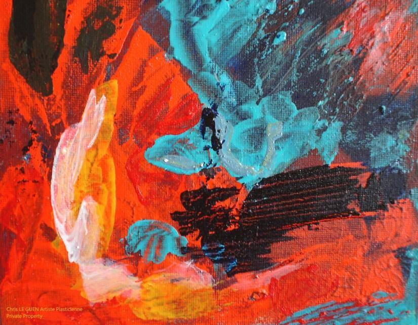 Chris Le Guen Artiste Plasticienne Peintre et Sculptrice peint N°45