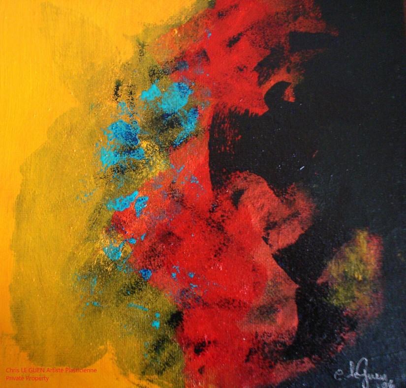 Chris Le Guen Artiste Plasticienne Peintre et Sculptrice peint N°47