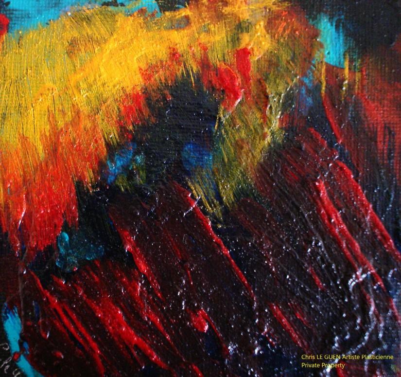 Chris Le Guen Artiste Plasticienne Peintre et Sculptrice peint N°48