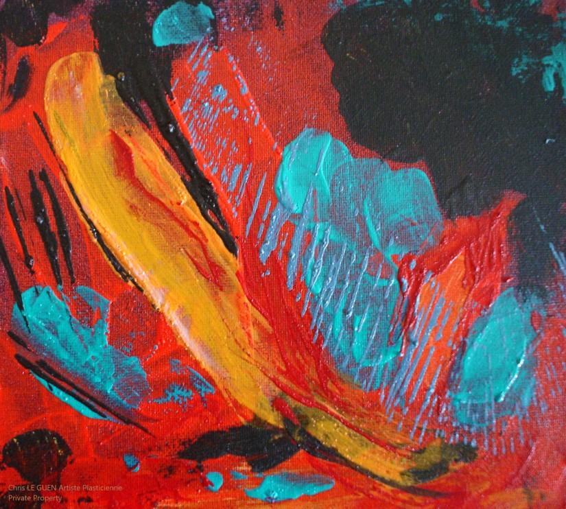 Chris Le Guen Artiste Plasticienne Peintre et Sculptrice peint N°49