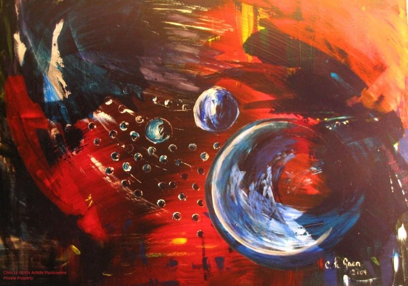 N°5 a été peint par Chris Le Guen Artiste Plasticienne Peintre et Sculptrice