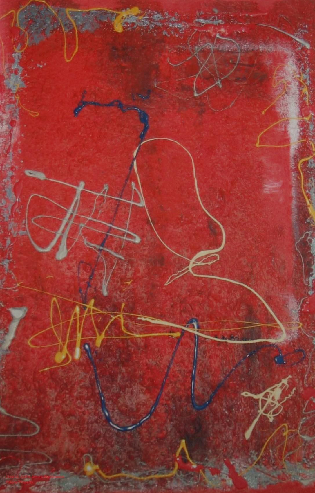 Chris Le Guen Artiste Plasticienne Peintre et Sculptrice peint N°5