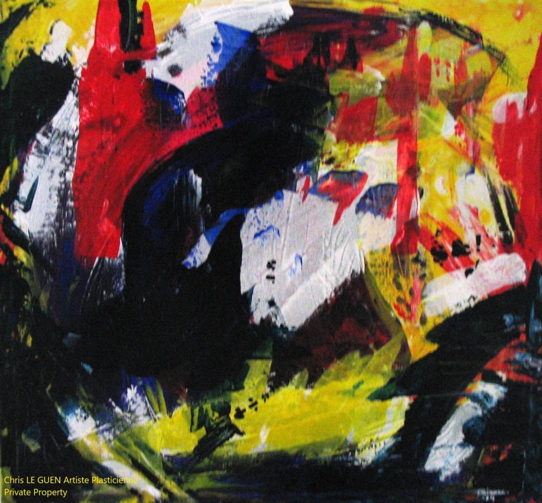 Chris Le Guen Artiste Plasticienne Peintre et Sculptrice a peint N°5
