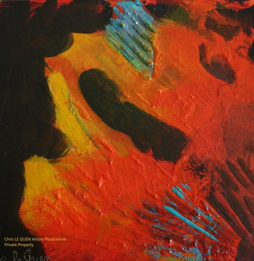 Chris Le Guen Artiste Plasticienne Peintre et Sculptrice peint N°50