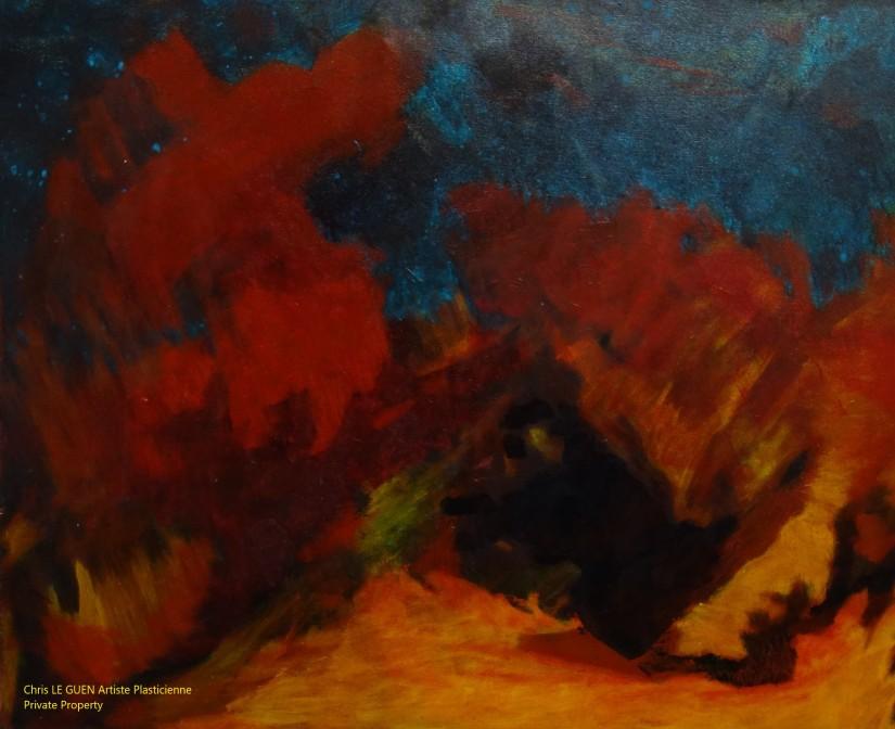 Chris Le Guen Artiste Plasticienne Peintre et Sculptrice a peint N°52