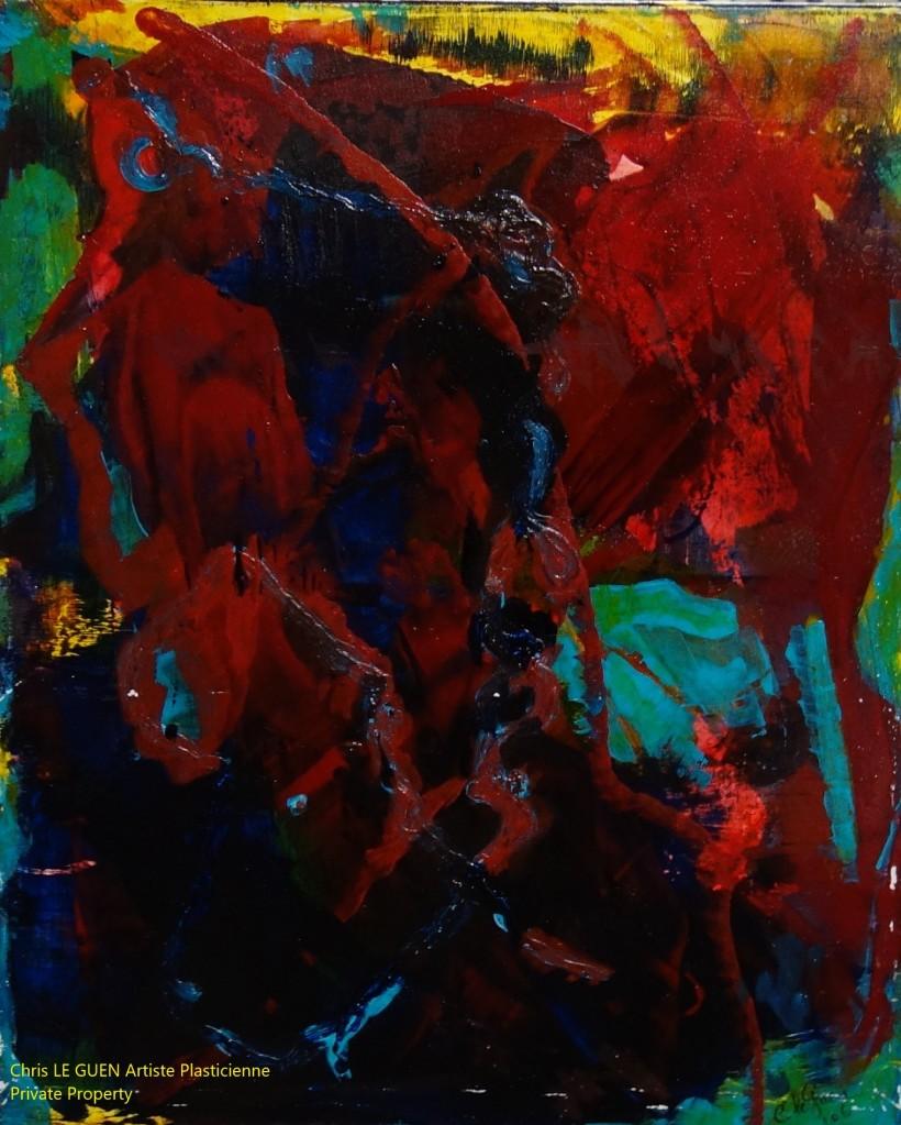 Chris Le Guen Artiste Plasticienne Peintre et Sculptrice a peint N°53