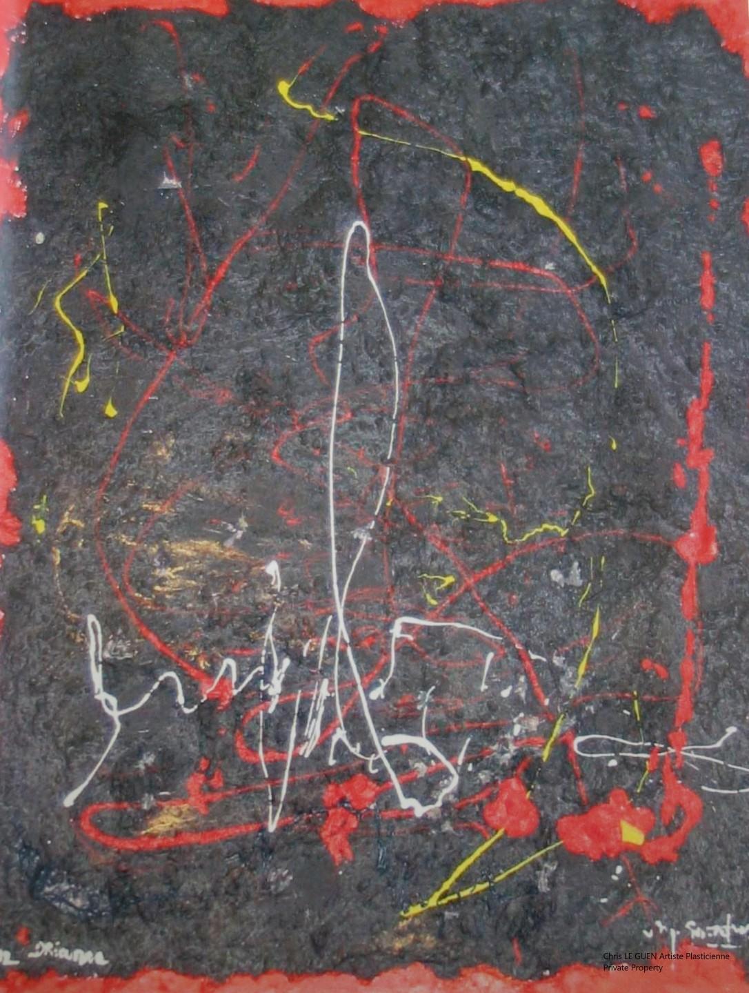 Chris Le Guen Artiste Plasticienne Peintre et Sculptrice peint N°6