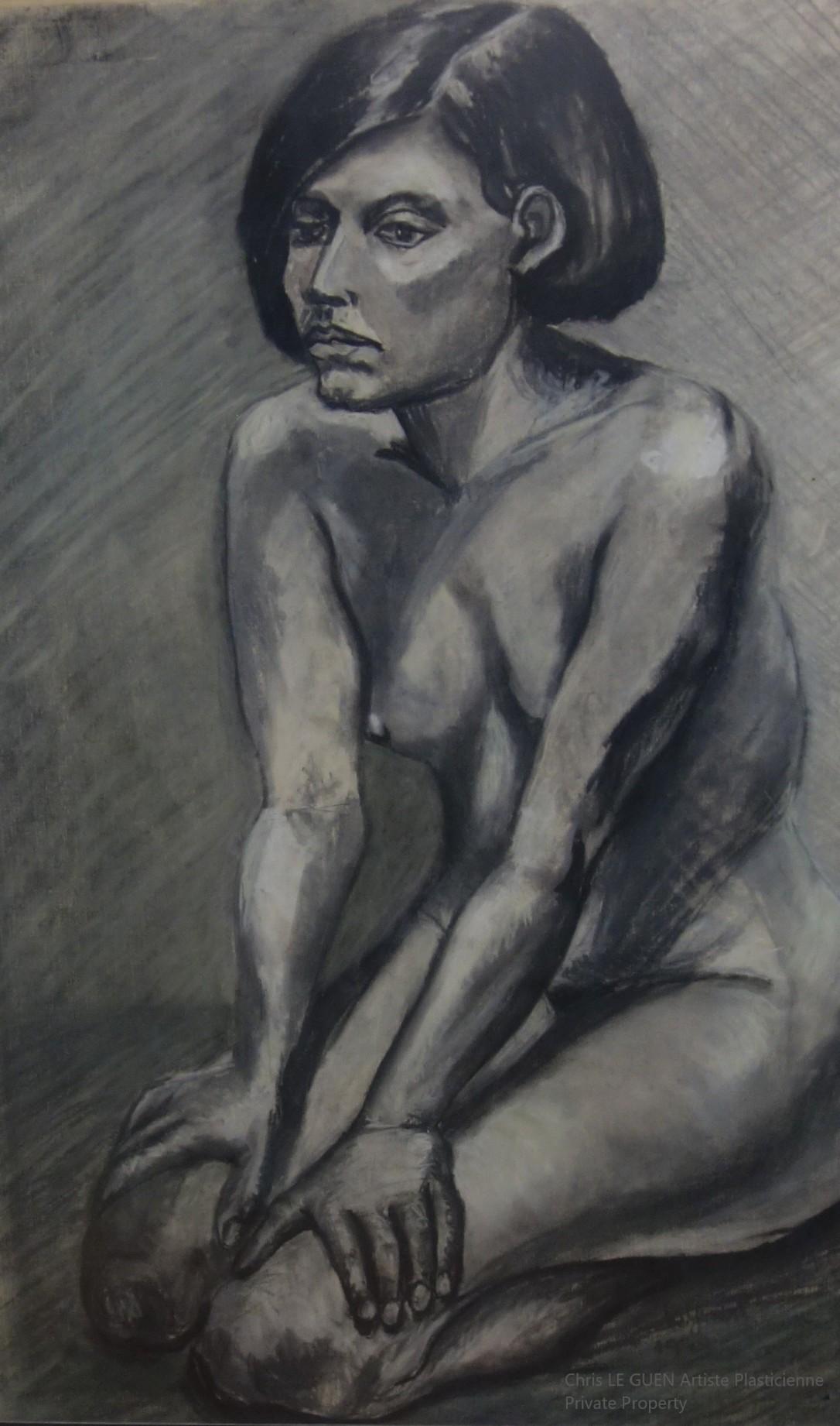 Chris Le Guen Artiste Plasticienne Peintre et Sculptrice a dessiné N°6
