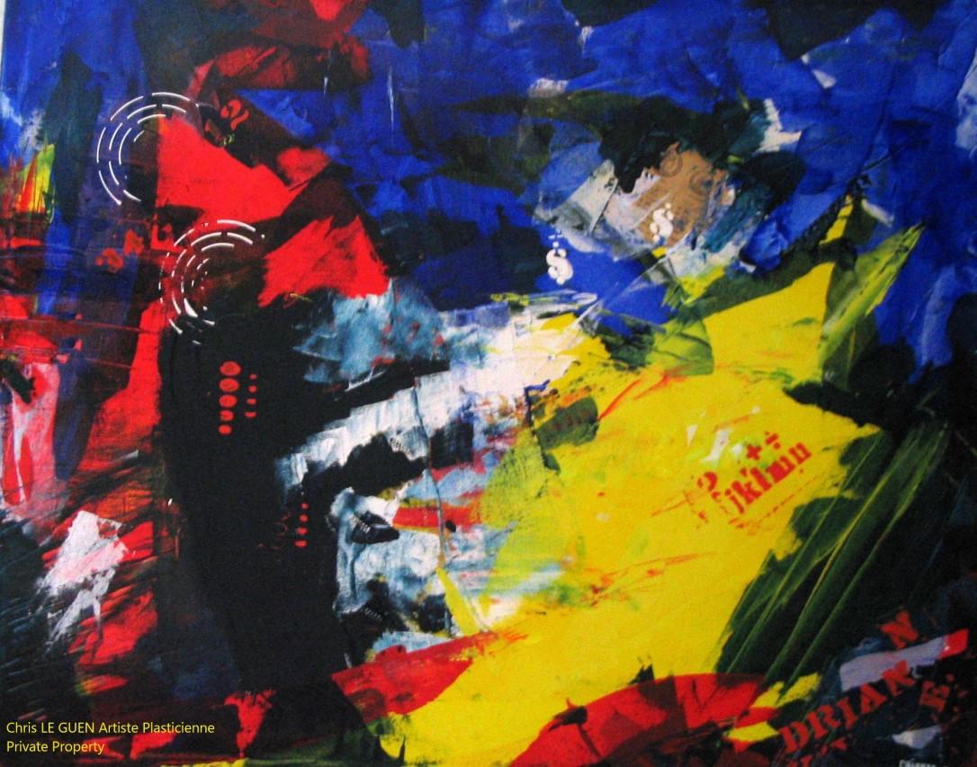 Chris Le Guen Artiste Plasticienne Peintre et Sculptrice auteur de N°7