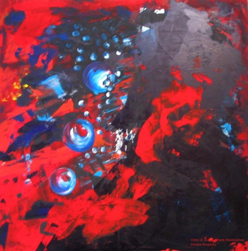 Chris Le Guen Artiste Plasticienne Peintre et Sculptrice a peint n°9
