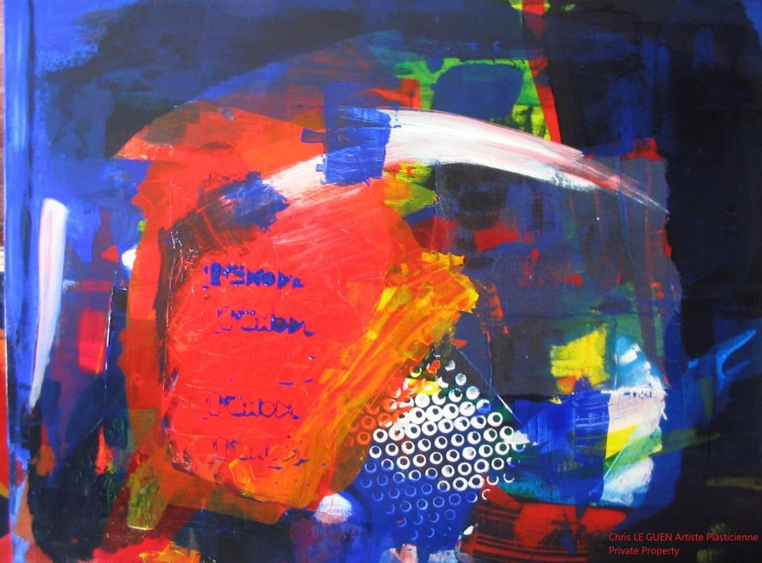 Chris Le Guen Artiste Plasticienne Peintre et Sculptrice auteur de N°9