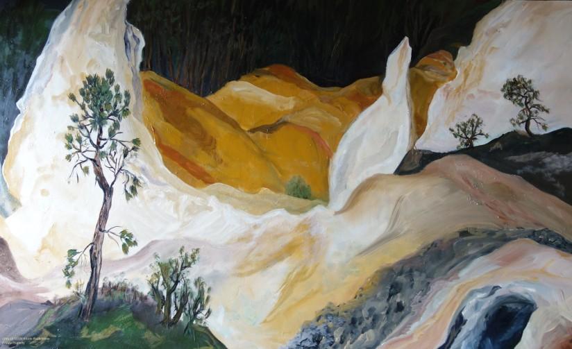 Ocre a été peint par Chris Le Guen Artiste Plasticienne Peintre et Sculptrice