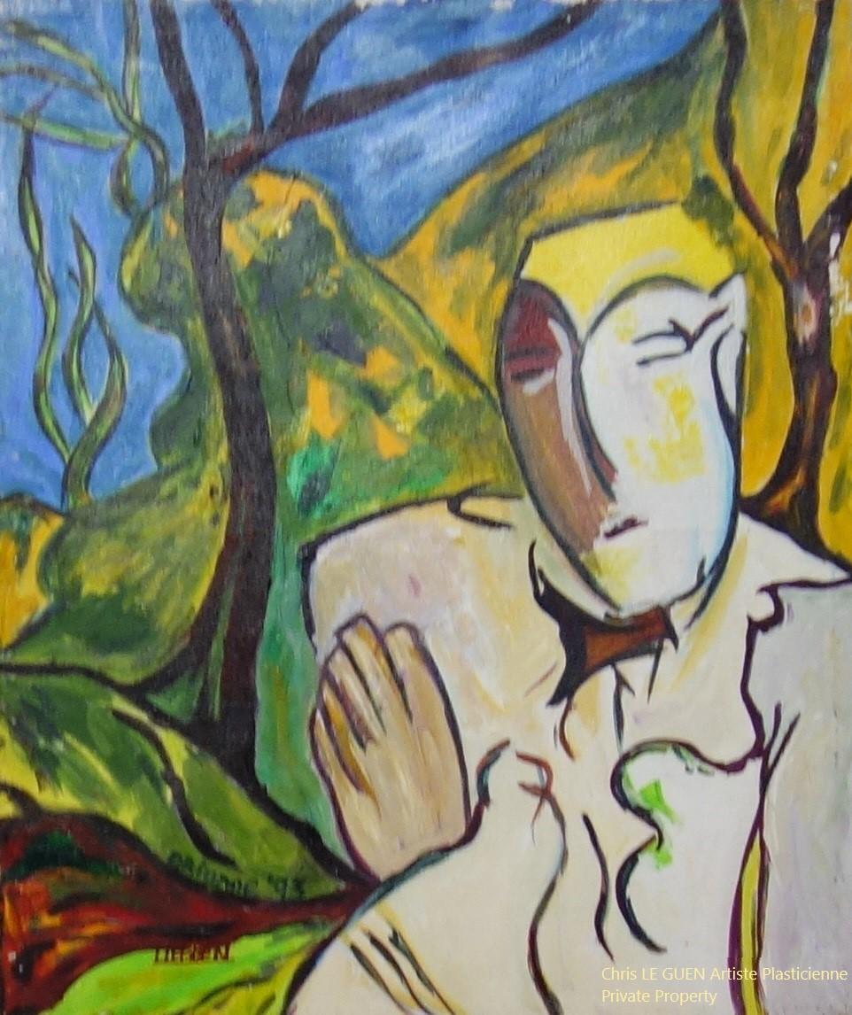 Chris Le Guen Artiste Plasticienne Peintre et Sculptrice a peint Ode to the Nature