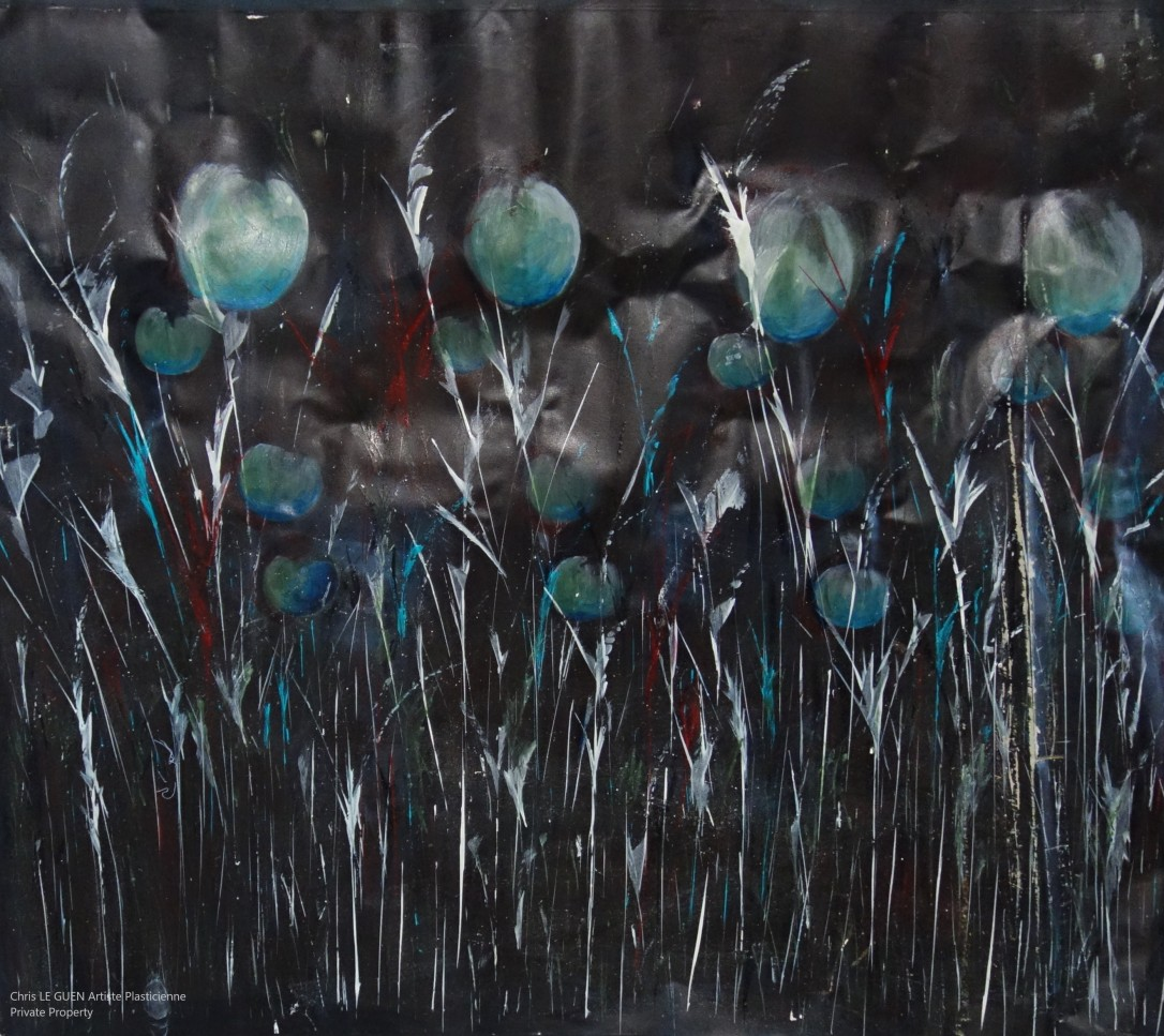Pavot a été peint par Chris Le Guen Artiste Plasticienne Peintre et Sculptrice