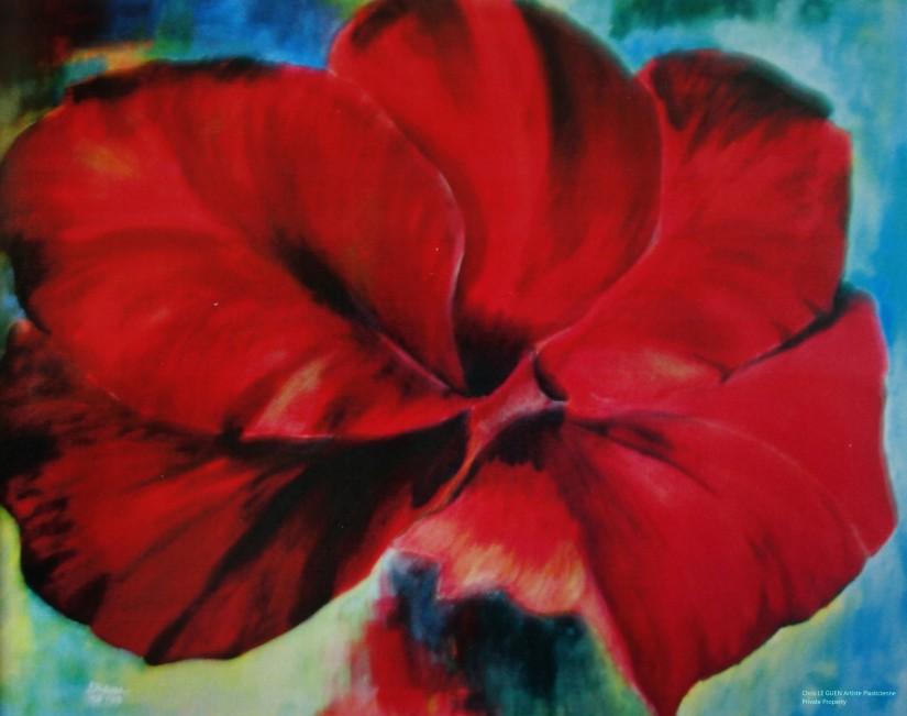 Primaire I a été peint par Chris Le Guen Artiste Plasticienne Peintre et Sculptrice