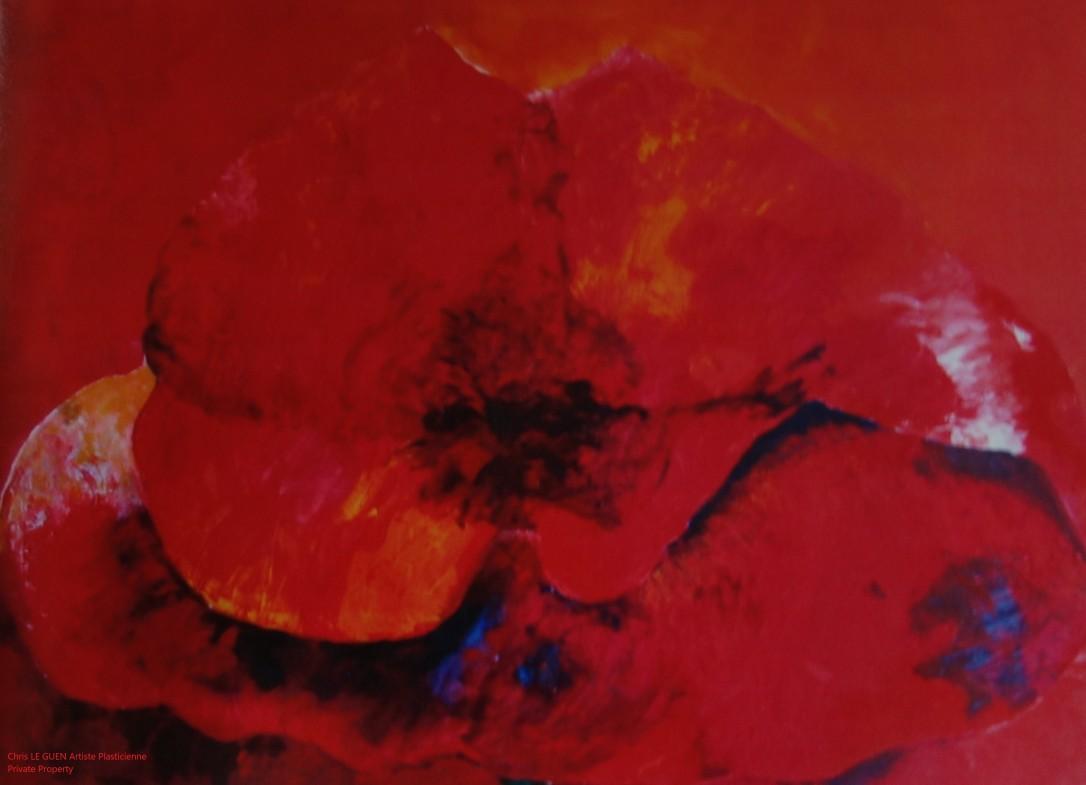Primaire XVI a été peint par Chris Le Guen Artiste Plasticienne Peintre et Sculptrice