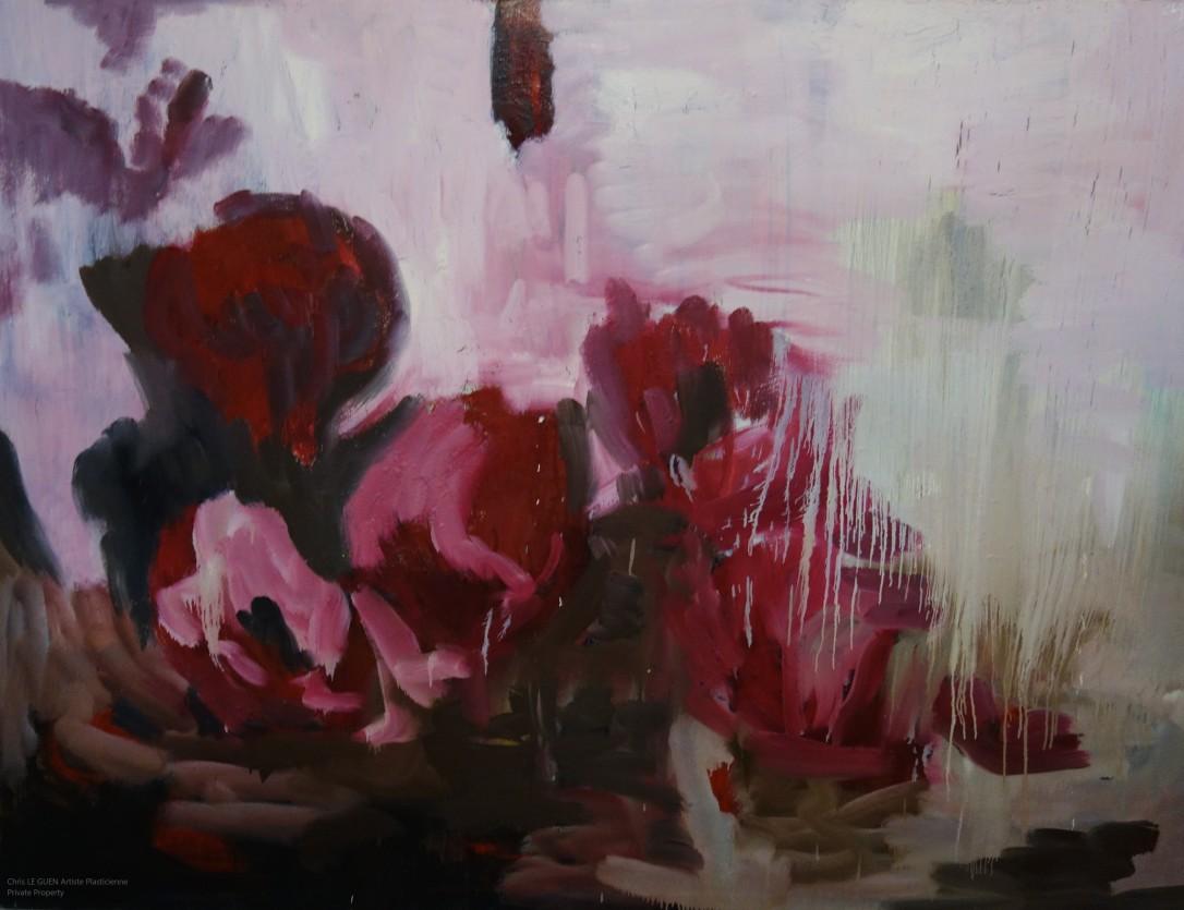 Primaire XXXV a été peint par Chris Le Guen Artiste Plasticienne Peintre et Sculptrice