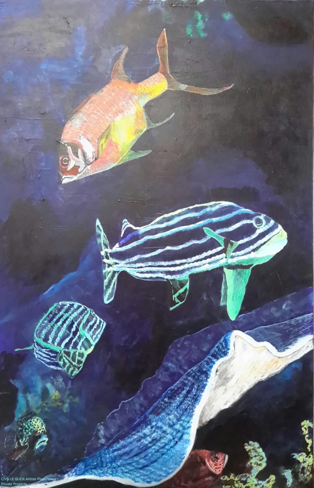 Profondeur a été peint par Chris Le Guen Artiste Plasticienne Peintre et Sculptrice