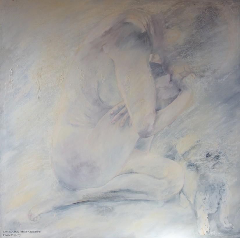 Sylvie et Nounou a été peint par Chris Le Guen Artiste Plasticienne Peintre et Sculptrice