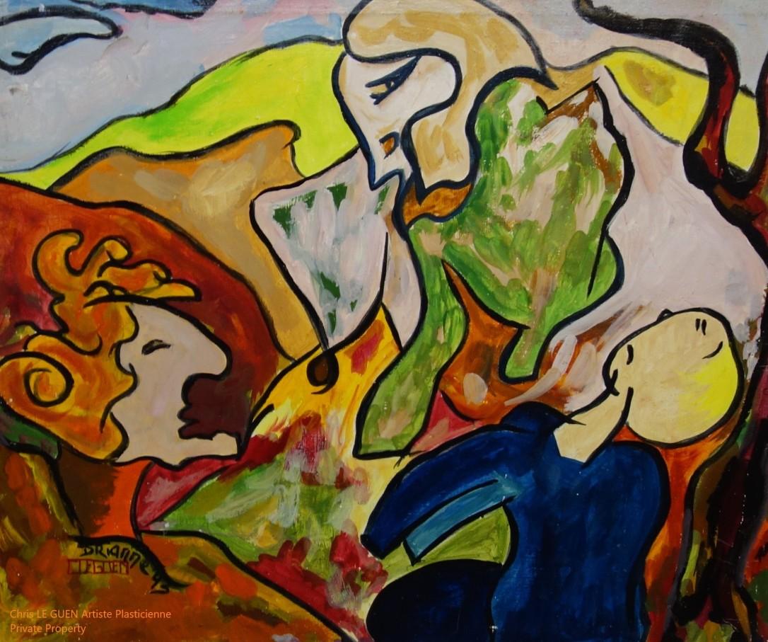 The Wiseman a été peint par Chris Le Guen Artiste Plasticienne Peintre et Sculptrice