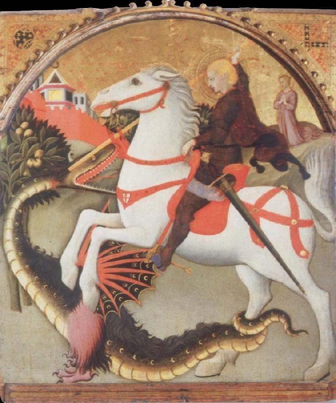 St George et le Dragon de Sano di Pietro vers 1440-1470