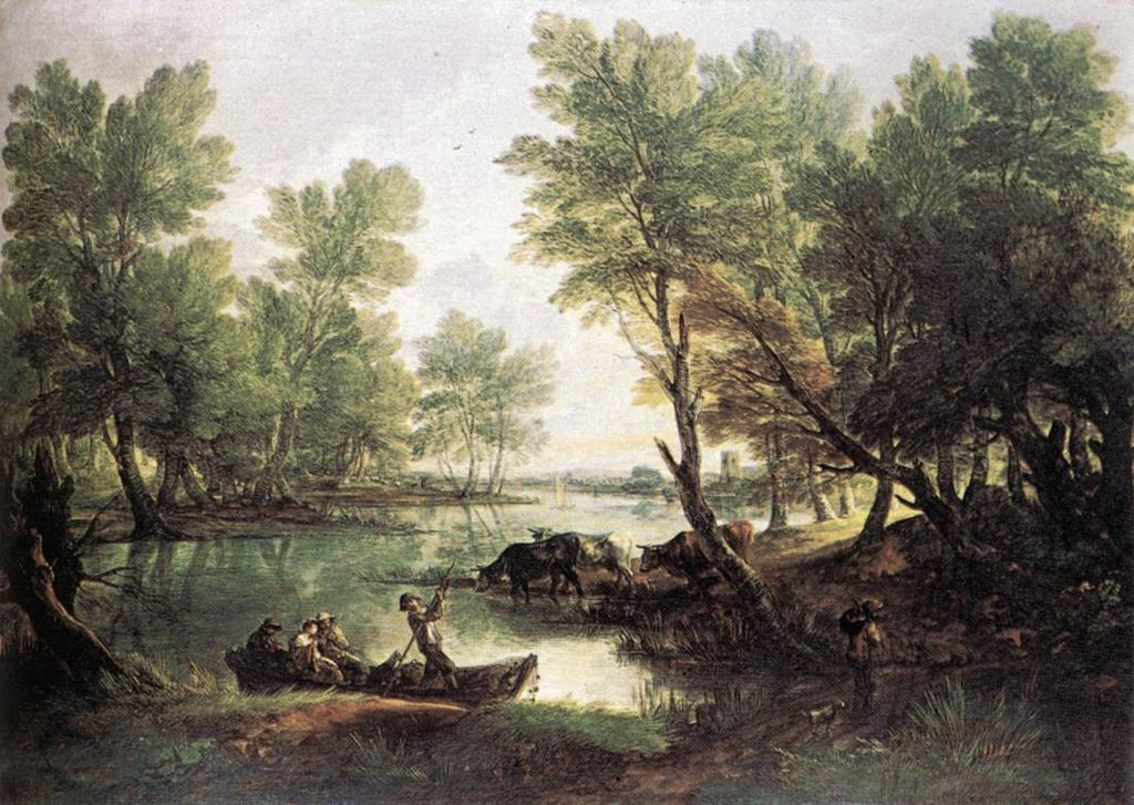 Vue de King's Bromley on Trnt Staffordshire fait par Thomas Gainsborough en 1768-1770 ©Rivage de Bohème