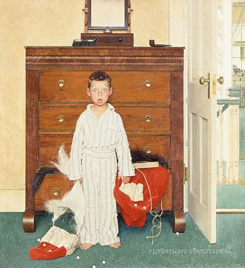 Discovery peint par Norman Rockwell. C est une Huile sur toile faite en 1956
