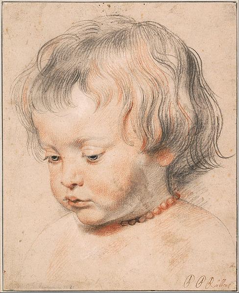 Portrait de son fils Nicolas fait par Rubens en 1619