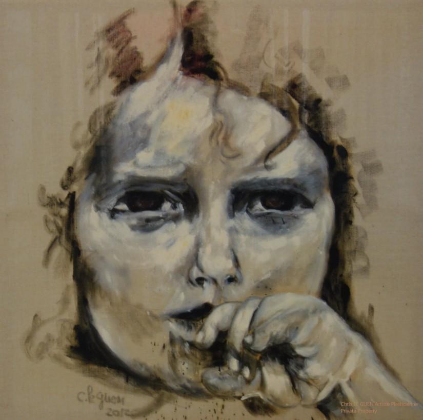 Chris Le Guen Artiste Plasticienne Peintre et Sculptrice a peint Annick
