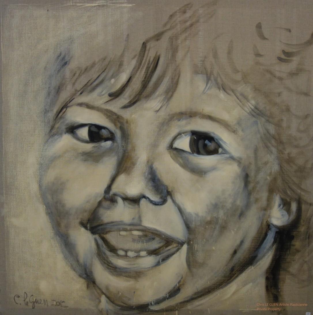 Chris Le Guen Artiste Plasticienne Peintre et Sculptrice a utilisé ses pinceaux pour peindre Auriane