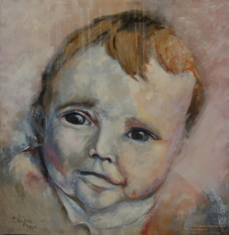 Bébé Chris fait par Chris Le Guen Artiste Plasticienne Peintre et Sculptrice