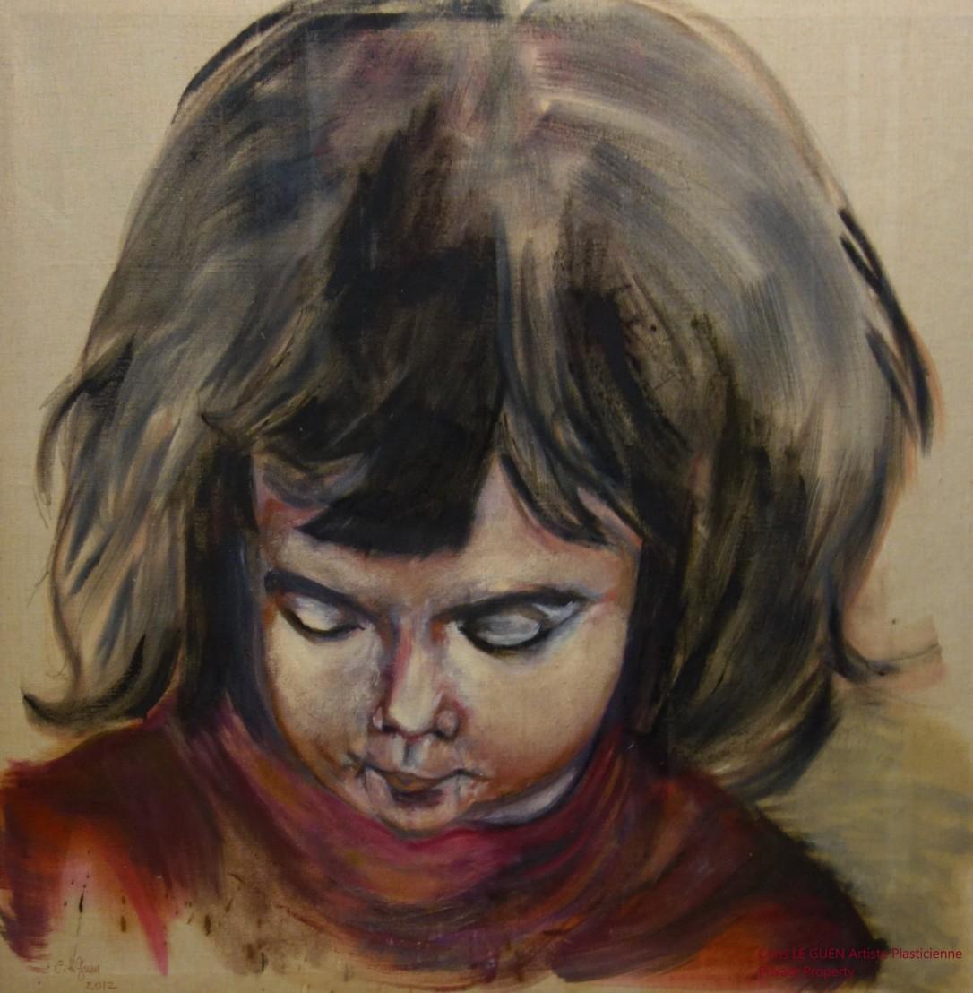 Camille a été peint par Chris Le Guen Artiste Plasticienne Peintre et Sculptrice